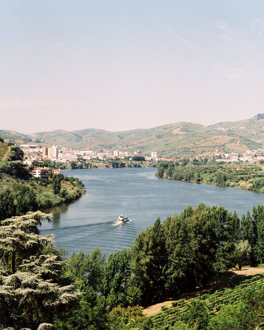 A Three-Day Destination Wedding in Portugal | Martha Stewart Weddings - The wedding took place in Portugal's Douro Valley, a verdant area in the north of the country known for producing world-class wines.