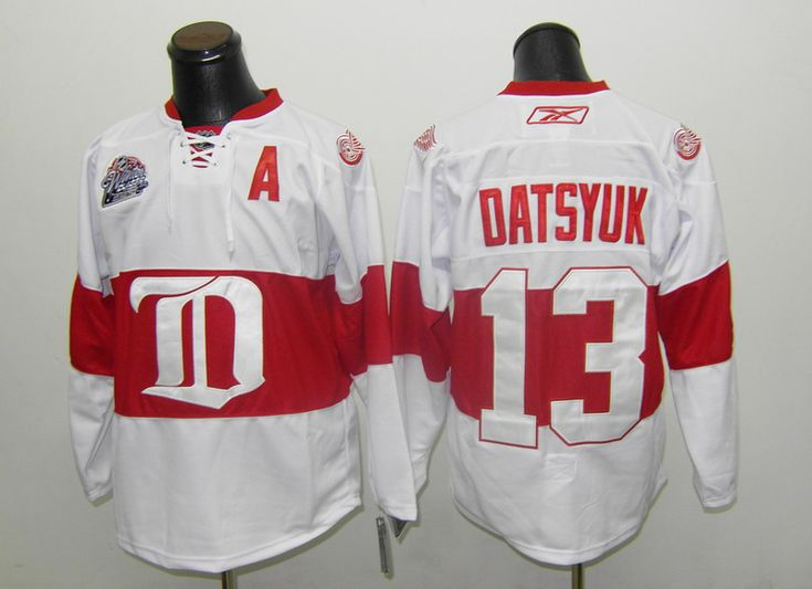 Detroit Red Wings #13 Pavel Datsyuk Classic Authentic Third Jersey