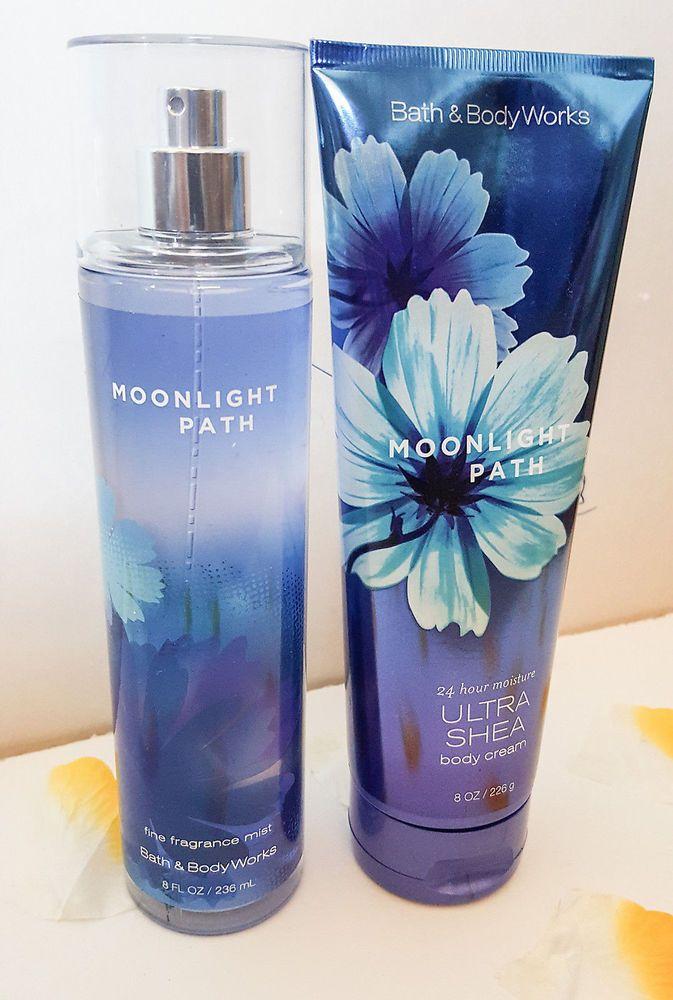 bath and body works moonlight path fine fragrance mist and body cream…