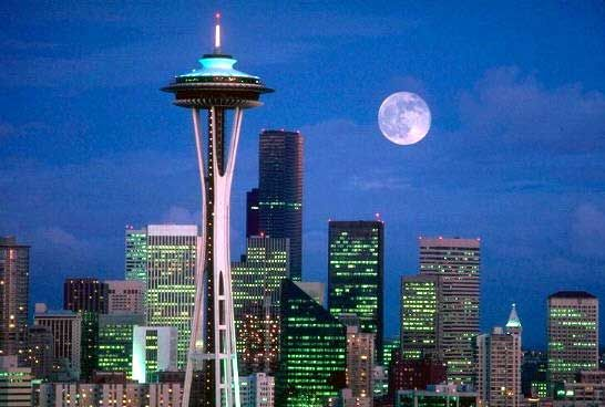 seattle space needle enjoyed a nice dinner atop the revolving