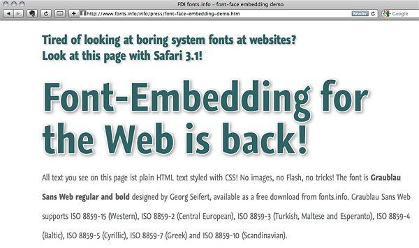 @Font-Face rule – font embedding