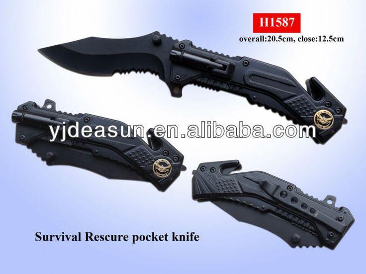 H1587 survival rescued pocket knife