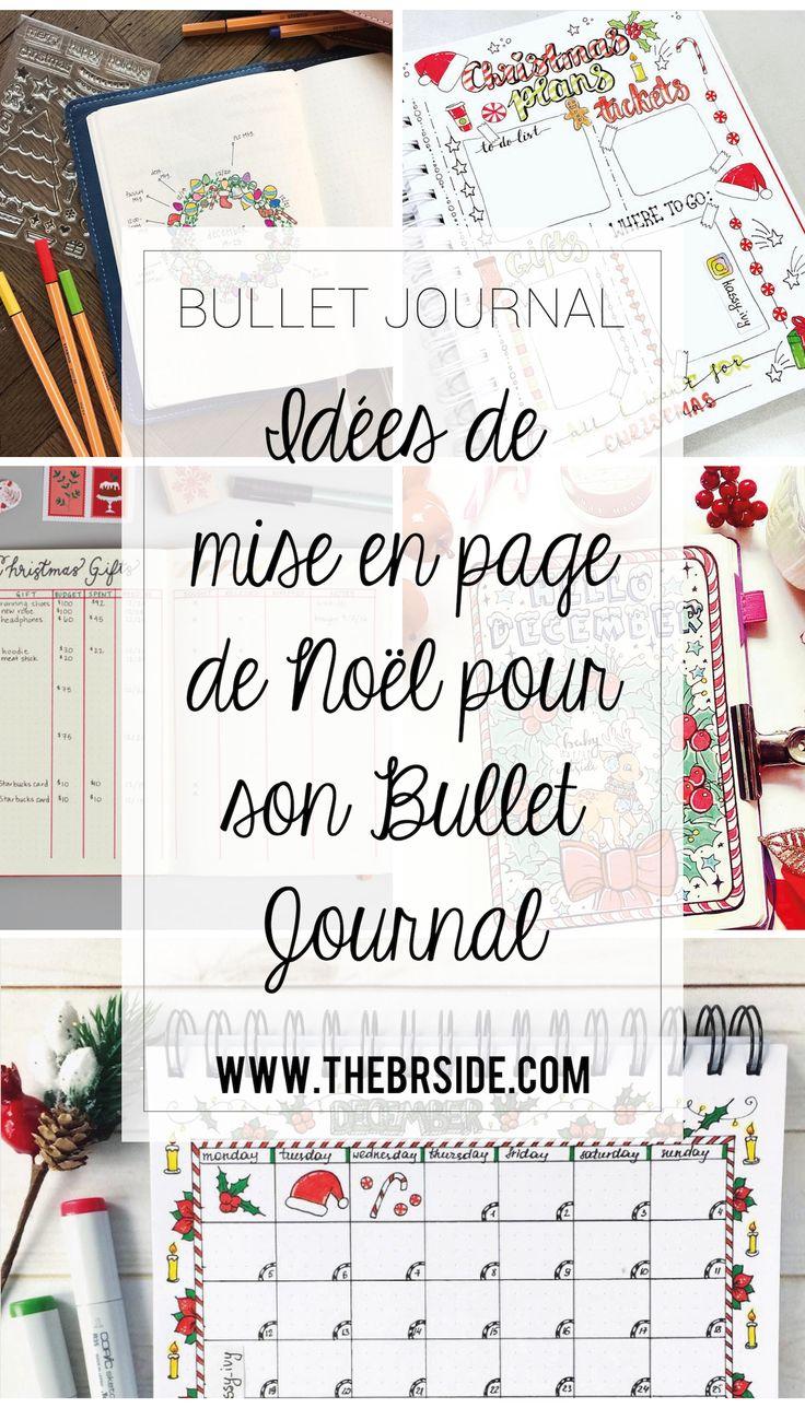 Pages de Noël pour votre Bullet Journal
