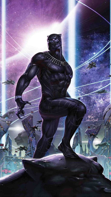 Black Panther King of Wakanda Artwork iPhone Wallpaper