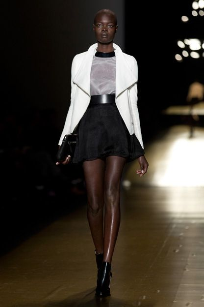 White and Black - breezy, comfortable, and ultrachic. Toronto Fashion Week: Mackage spring 2014 | torontolife.com