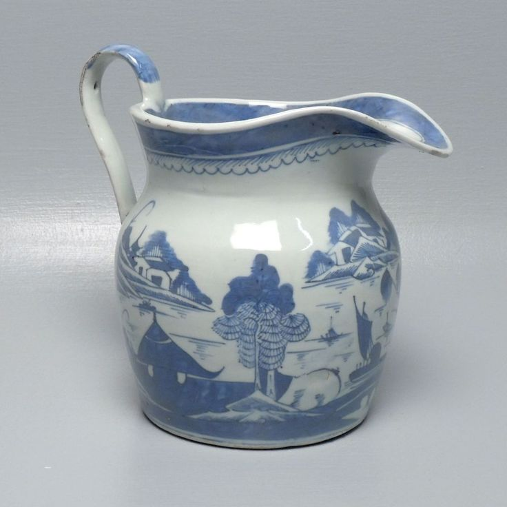 $1,850 Old Canton Chinese Export Water Porcelain Pitcher w Shein Collection Label PC