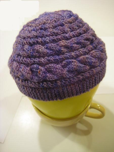 Sideways Cabled Hat Class with Roxanne Richardson #craftartedu