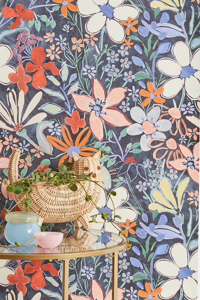 Sylvie Floral Removable Wallpaper Urban Outfitters Small Bathroom Wallpaper Removable Wallpaper Stick On Wallpaper