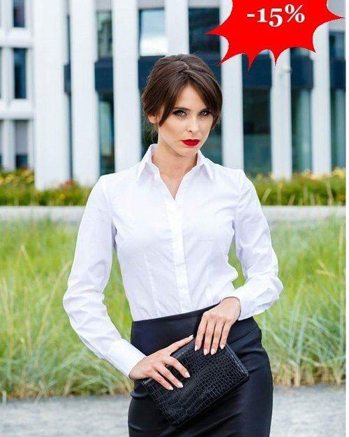 Klasyczna taliowana koszula z bawełny  Niezbędny element garderoby każdej kobiety!  -15%  http://ift.tt/2k03Ng6