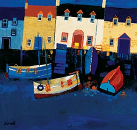 Art Prints Gallery - Boats and Tarry Wall (Limited Edition), £85.00 (http://www.artprintsgallery.co.uk/George-Birrell/Boats-and-Tarry-Wall-Limited-Edition.html)