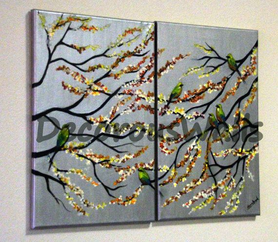 Birds 'n Blossoms by DecorousWalls on Etsy