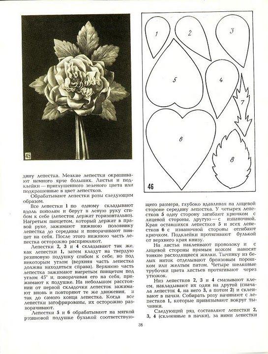 описание изготовления цветов из ткани25