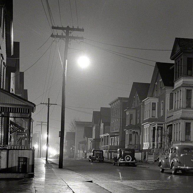 Foggy Night In New Bedford Massachusetts Autumn 1940 Newbedford Newbedfordma Newbedfordguide Newbedfordhar New Bedford Bedford Massachusetts Bedford Ma