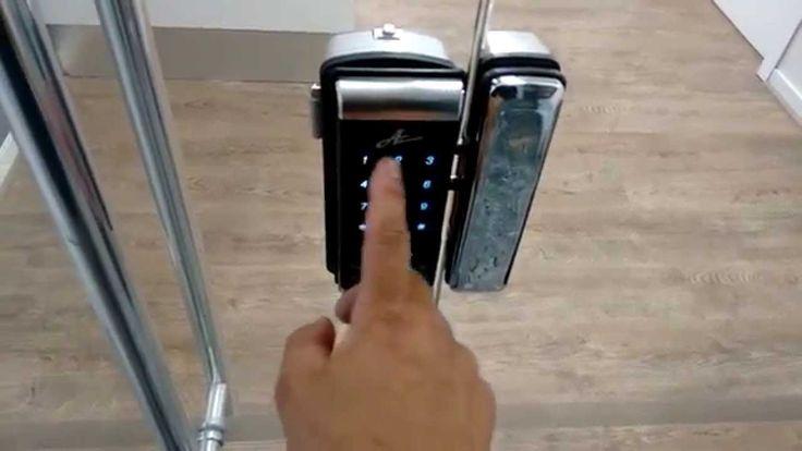 Fechadura eletrônica para vidro