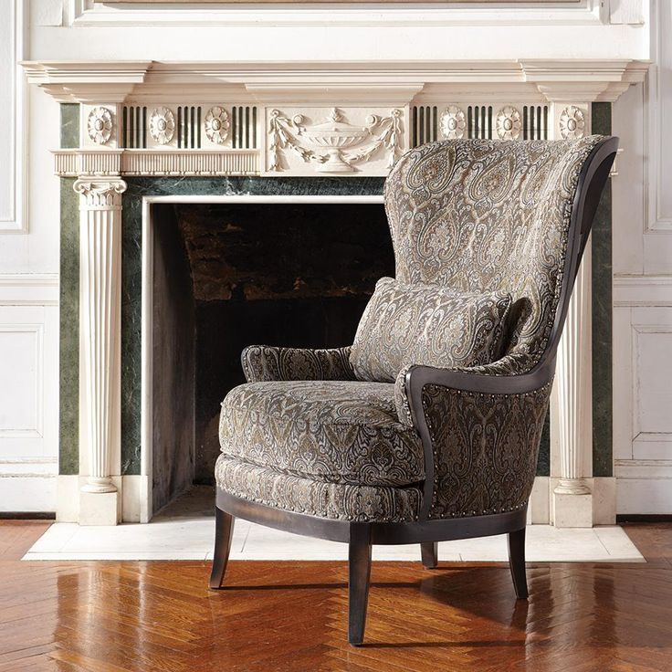 Portsmouth upholstered chair in 2280 pewter arhaus - Upholstered benches for living room ...