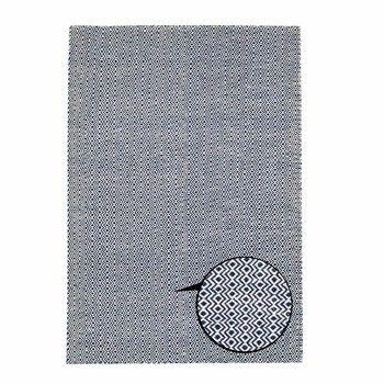 Ręcznie tkany dywan Flat Blue Waves, 100x160 cm   Bonami