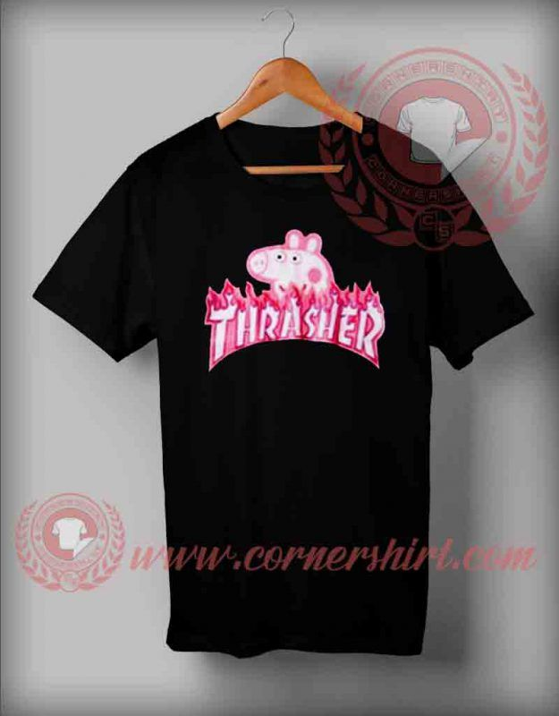 b9942b37 Thrasher Peppa Pig Parody T shirt in 2019 | Graphic T shirts ...