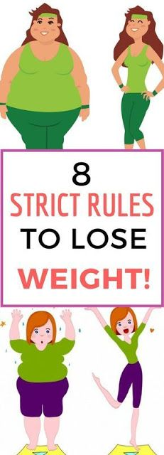 8 STRICT RULES YOU NEED TO FOLLOW IF YOU WANTED TO LOSE WEIGHT!