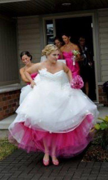 wedding dress with red petticoat | Wedding Forum - My wedding planning diary! My 5 year engagement. (1/11 ...