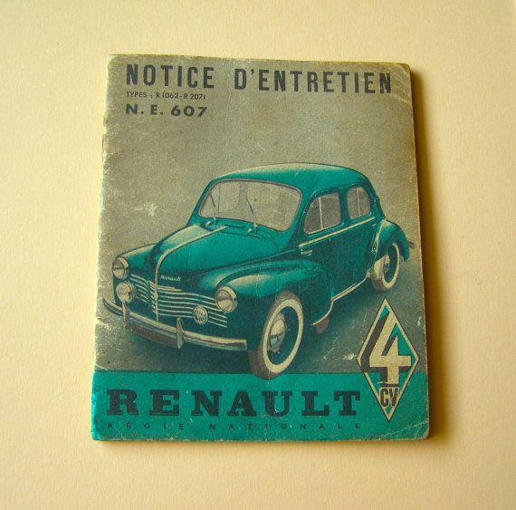 Notice Française Renault 4 Chevaux - 1951