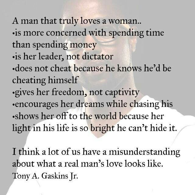 Quotes Men Love: A Real Man's Love