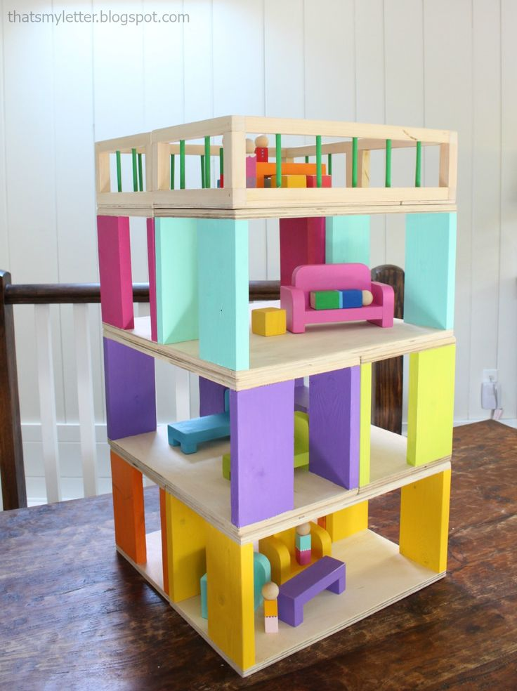 Modular Stackable Dollhouse | Free and Easy DIY Project ...