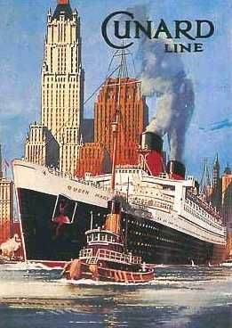 We went to Germany on the Cunard linr Saxonia.  old posters - Google Search