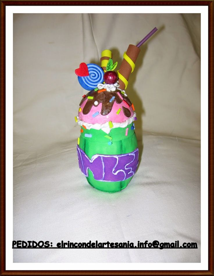 El Rincón de la Artesanía: Vaso personalizado de cupcake