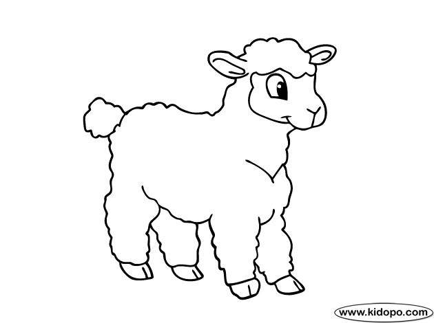 sheep coloring page Cute sheep