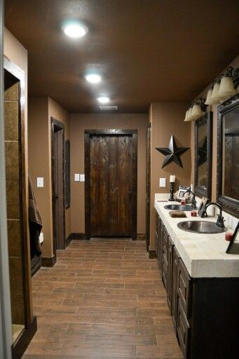 25 best ideas about rustic bathroom designs on pinterest - Master bedroom and bathroom paint colors ...
