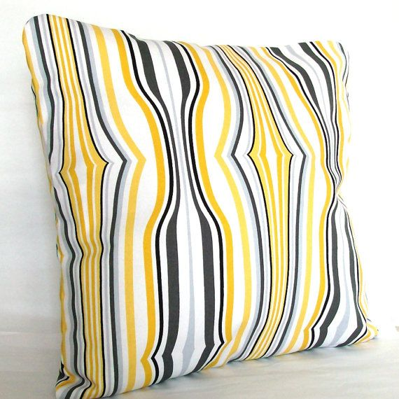 Yellow And Black Decorative Pillows : 17 Best images about Pillow on Pinterest White pillow covers, Linen pillows and Grey pillows
