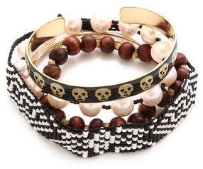 Mercedes salazar Skull Bracelet Set on shopstyle.com
