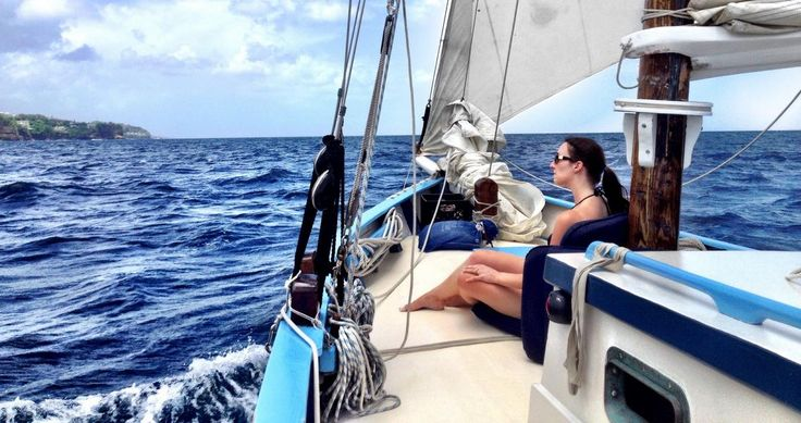 Guest Relaxing On Cruise With Jus' Sail #caribbean #saintlucia #stlucia #tropics #cruise #sailing #vacation #travel #sealovers