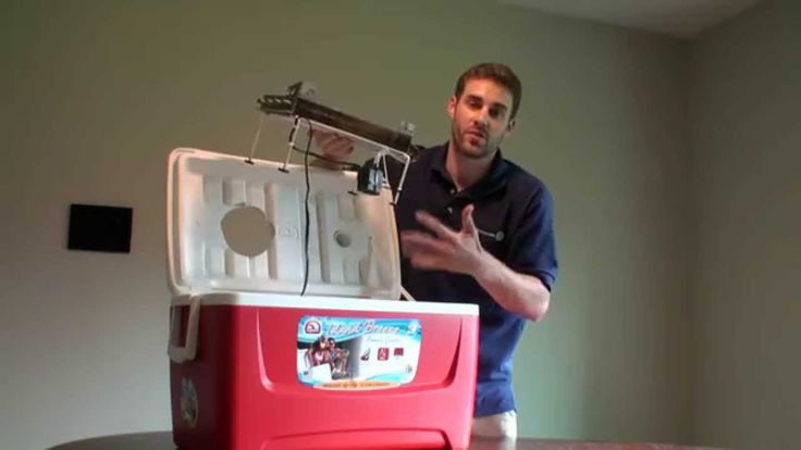 how to make ac with fan and ice