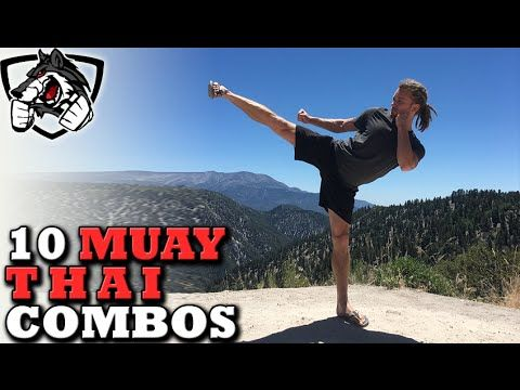 10 Badass Muay Thai Combos - Step by Step Instruction - YouTube