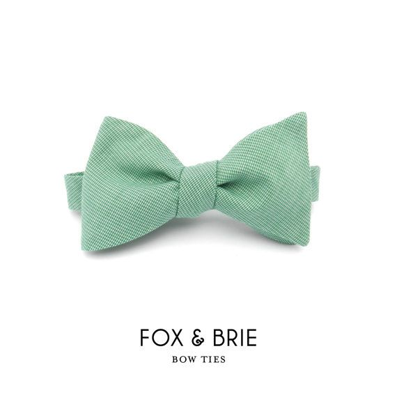 Emerald Bow Tie by FoxandBrie on Etsy