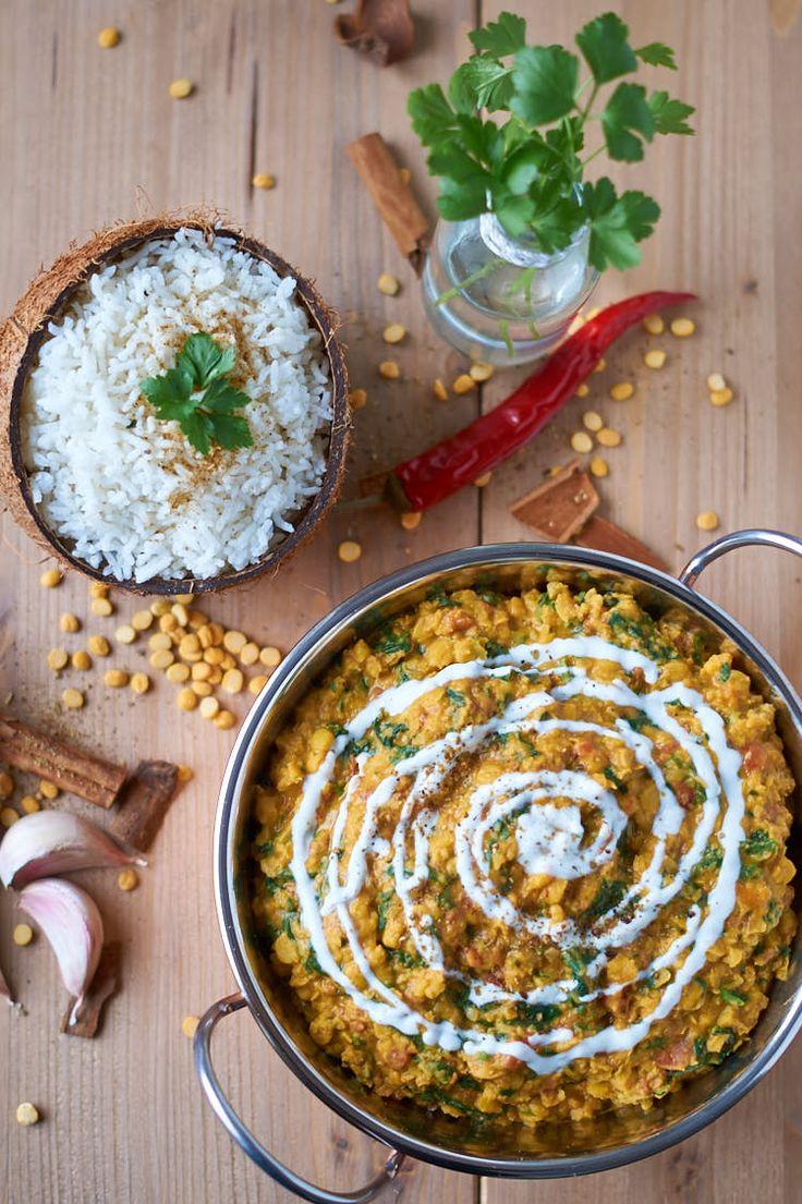 Palak Chana Dal | Indisches Curry mit Kichererbsen und Spinat | Indian Chickpea Spinach Curry | Rezept auf carointhekitchen.com | #palak #chana #dal #kichererbsen #spinat #curry #chickpea #spinach #recipe #rezept