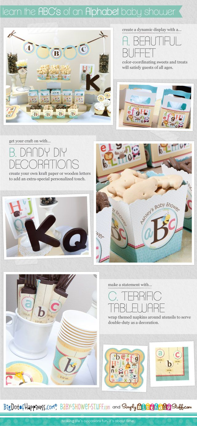 #Alphabet Baby Shower Theme: The perfect way to welcome a new baby #BabyShowerStuff #Animals
