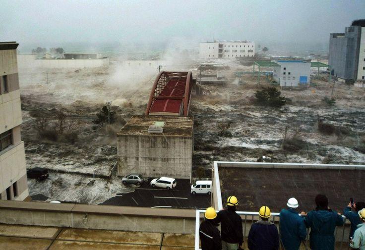 Tsunami Flood Waters in Japan
