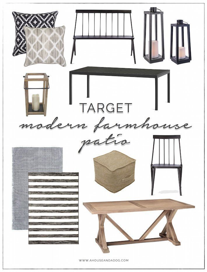 Modern Farmhouse Patio Furniture + Decor from Target | ahouseandadog.com
