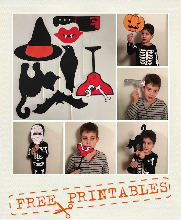 A Sunday morning with: Maschere e photo booth props stampabili per Halloween.