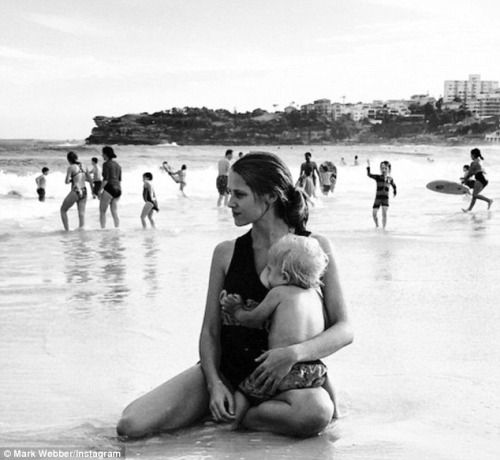 Storq: Teresa Palmer and her son Bodhi by her husband, Mark...