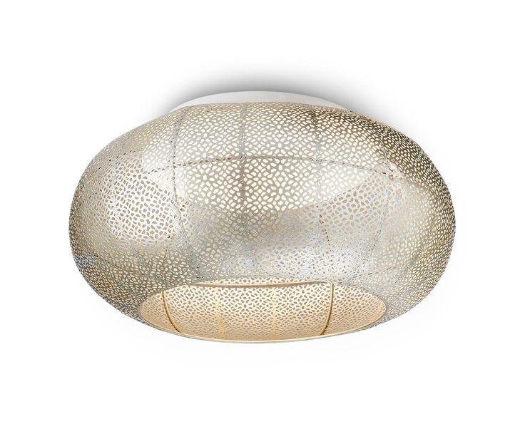 79,95 € LED-Lampe für eine stimmungsvolle Atmosphäre  Wunderlampe mal anders. Das Lochmuster dieser Leuchte bricht das Licht und zaubert Atmosphäre. Die innenliegende Abdeckung sorgt für ein angenehm helles und sanftes Licht.