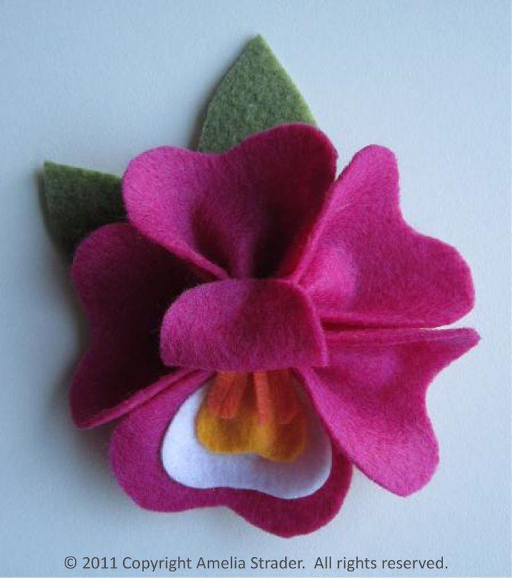 felt orchid flower - Google Search