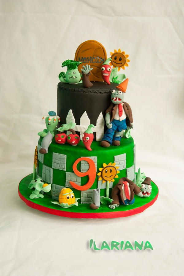 Plants vs zombies 2 cake