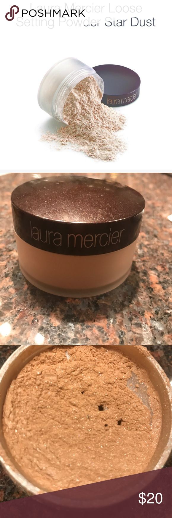 Beautiful highlighter Laura mercier loose setting powder in star dust. Only used once. Great highlighter or all over powder! Laura Mercier Makeup Luminizer