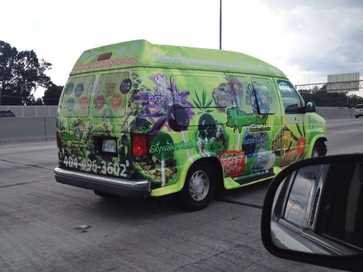 """This marijuana delivery van seen on the streets of New Orleans where recreational marijuana use is still illegal. """"Wholesale available by the pound"""". http://ift.tt/2pZe1lS"""