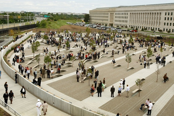 Dedication of the Pentagon Memorial to the victims of the Sept. 11, 2001 terrorist attack on the grounds of the Pentagon in Arlington, VA