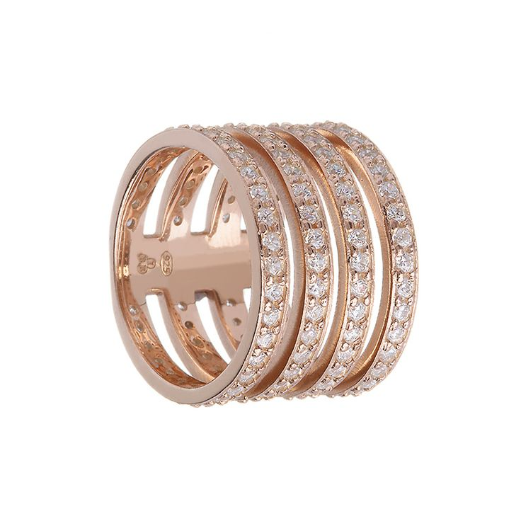 Sterling Silver Rose Gold Plated Ring from Empress Collection at www.LaurynRose.com