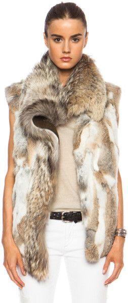 Love this: Astia Steppe Fur Vest @Lyst